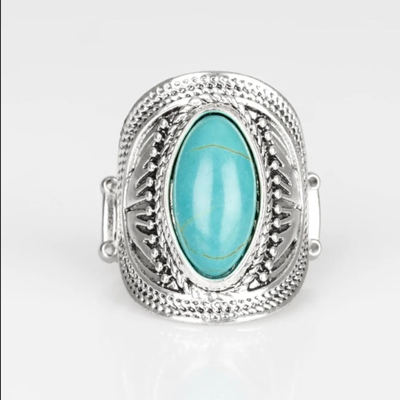 J89 Turquoise stretchy ring